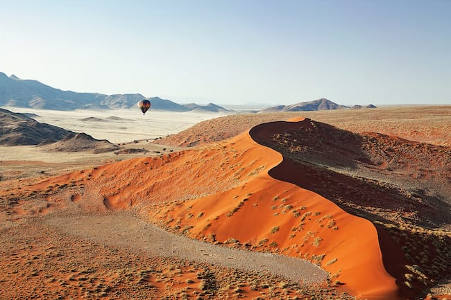 kulala desert lodge sossusvlei dune hot air ballooning namibia safari