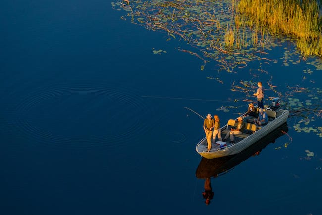 macatoo camp okavango delt safari fishing