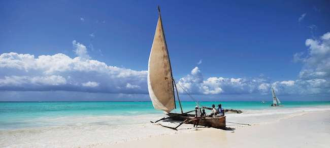 dhow on beach