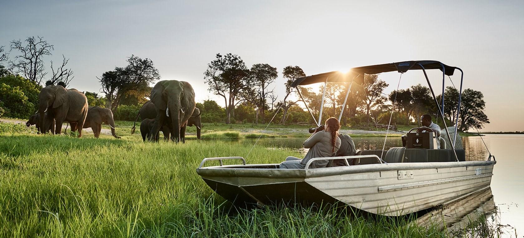Sanctuary Chobe Chilwero is a luxurious riverside retreat